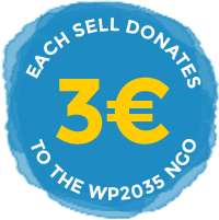Each sell donates 3€ or 3US$ to the WP2035 NGO