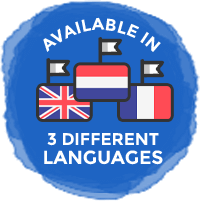 Available in 3 different languages - English, Dutch and French
